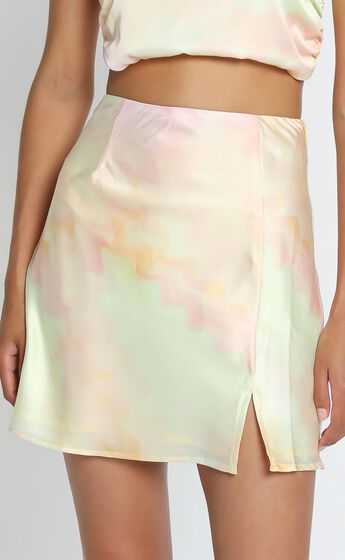Stand in Line Skirt in Yellow Tie Dye