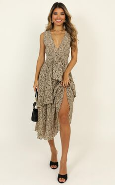 Allow The Space Dress In Leopard Print