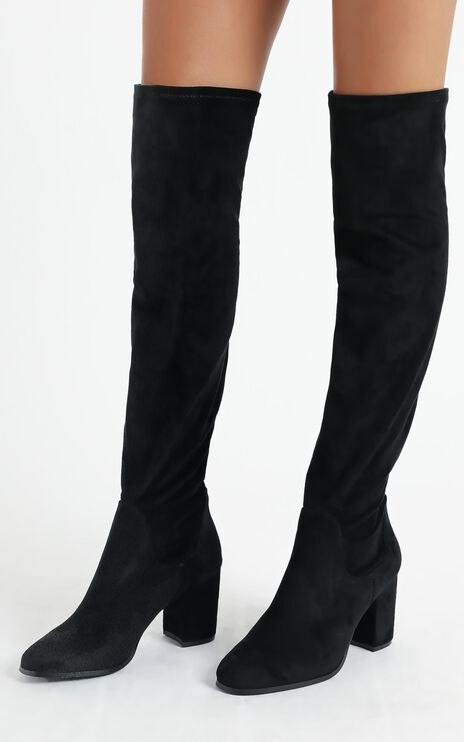 Therapy Shoes - Hanover Boots In Black Micro