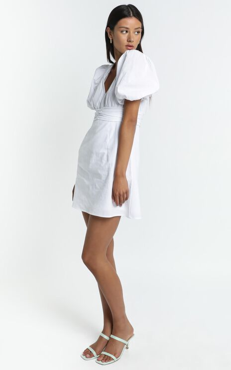 Sunray Dress in White