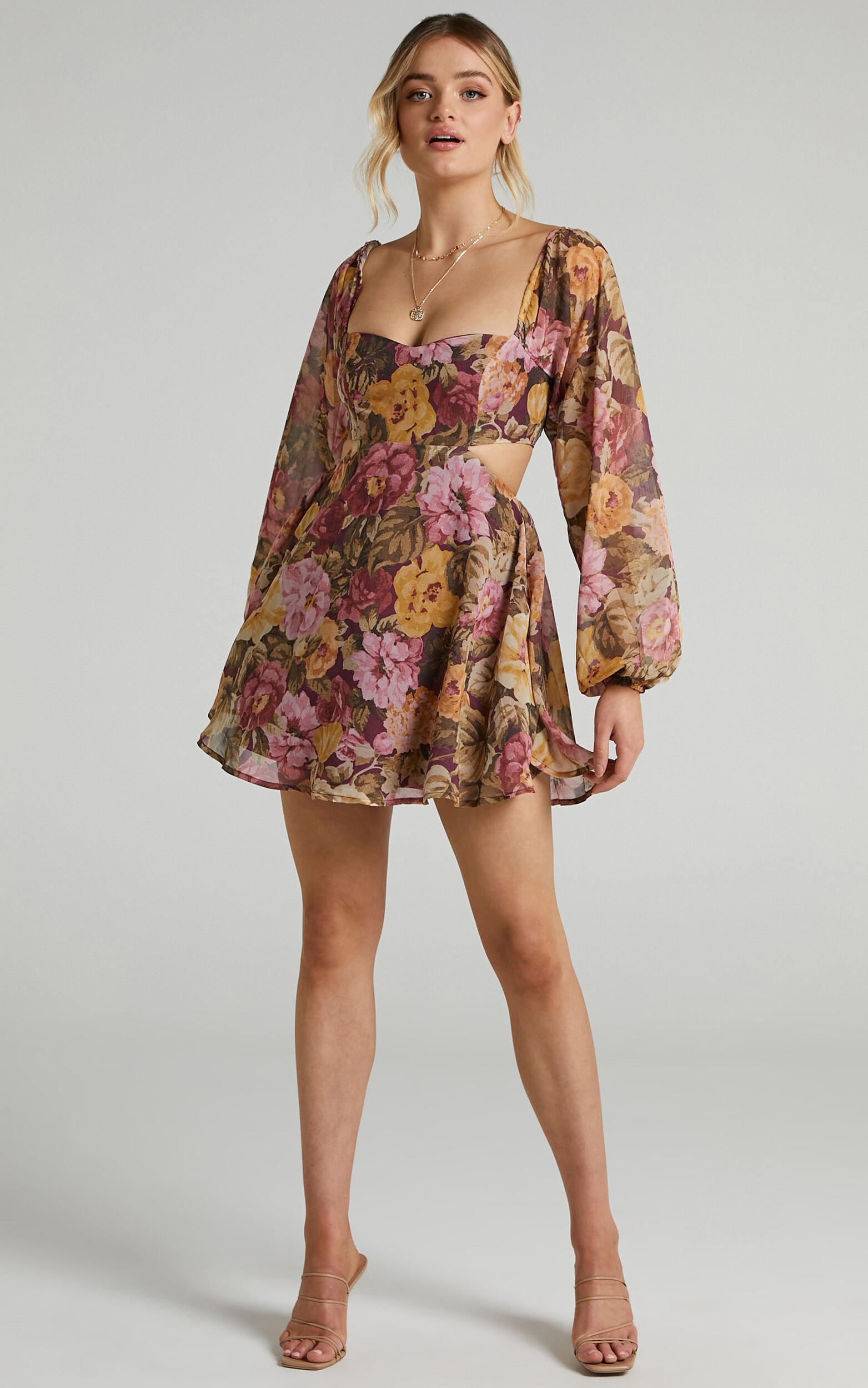 Ebonee Dress in Classic Floral - 06, PNK1, super-hi-res image number null