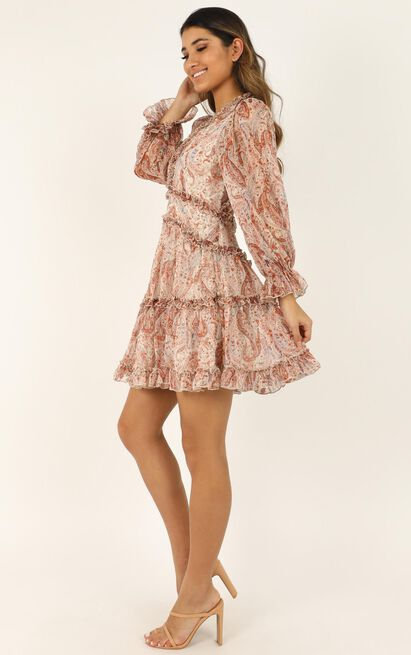 The Golden Age Dress In rust paisley - 16 (XXL), Rust, hi-res image number null