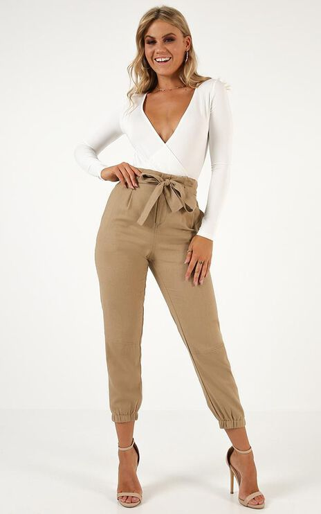 Last Call Pants In Beige