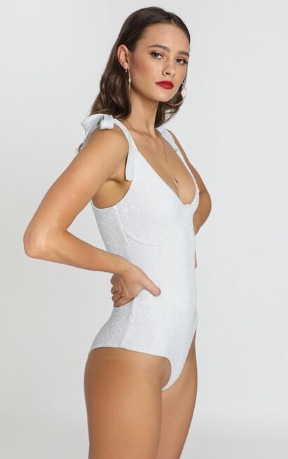 Wind Up Bodysuit in silver - 12 (L), Silver, hi-res image number null