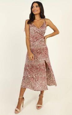 Strict Deadline Dress In Leopard Print