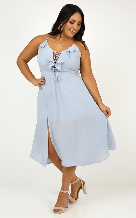 Think Quick Dress In Blue