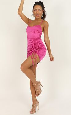 Look Like This Dress In Hot Pink Satin