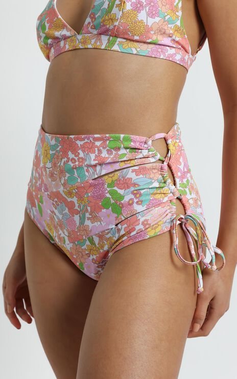 Shirley Bikini Bottoms in Flower Field