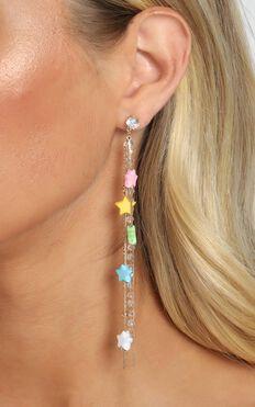 South Coast Star Drop Earrings In Multi Colour