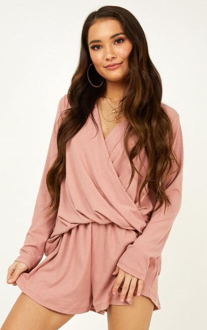 My Love Song playsuit in blush - 12 (L), Blush, hi-res image number null