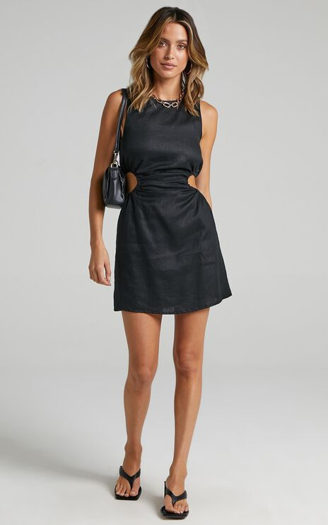 Lioness - Straight Shooter Mini Dress in Black