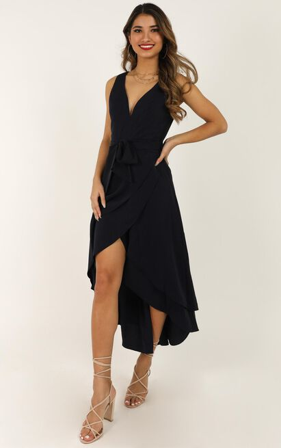 Always Yours Dress In Navy - 4 (XXS), Navy, hi-res image number null
