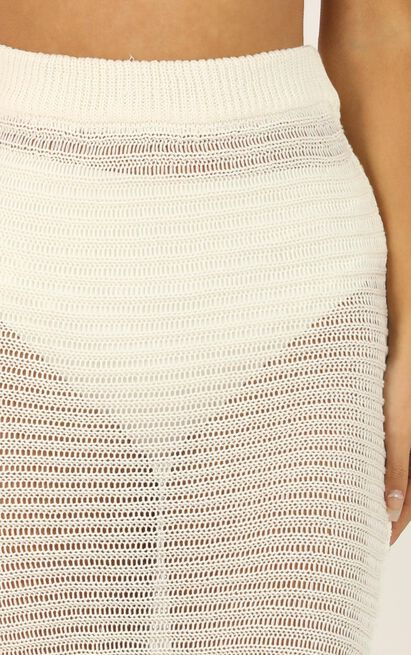 Unlock My Heart knit skirt in cream - M/L, Cream, hi-res image number null