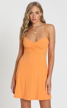 Master Lesson Dress in Tangerine