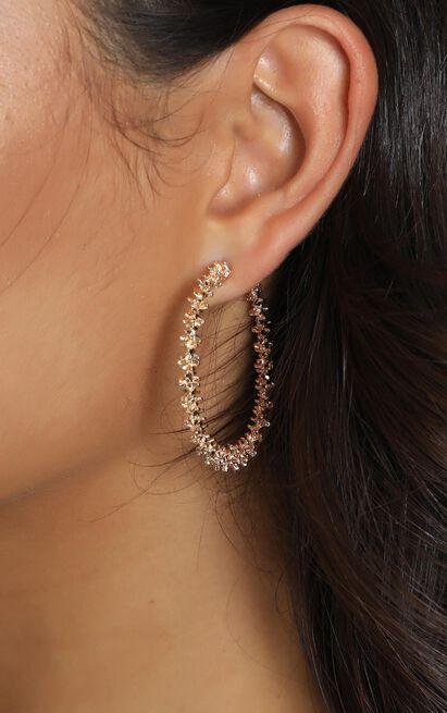 Aileen Hoop Earrings In Gold, , hi-res image number null