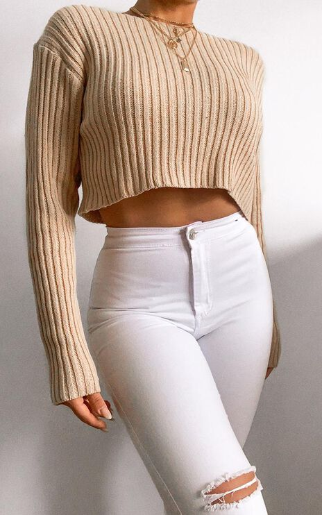 Born Influencer Ribbed Knit in Mocha