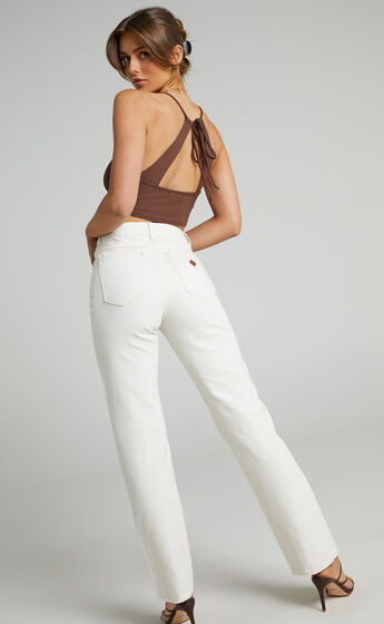 Abrand - A 94 High Straight Jean in Stone White