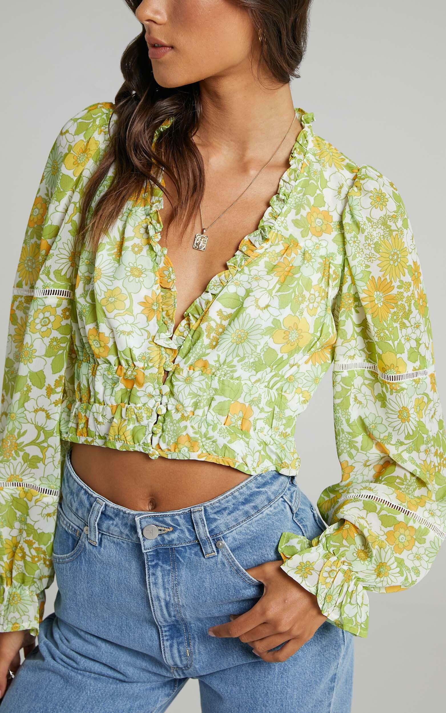 Eze Top in Harmony Floral Chiffon - 06, MLT1, super-hi-res image number null