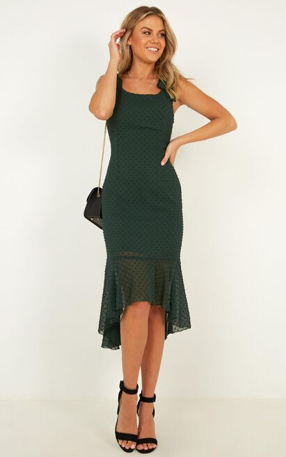 Turn To You Dress in emerald - 20 (XXXXL), Green, hi-res image number null