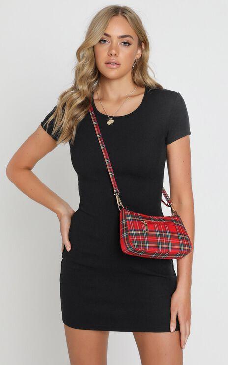 Trendsetter Check Shoulder Bag in Red and Green