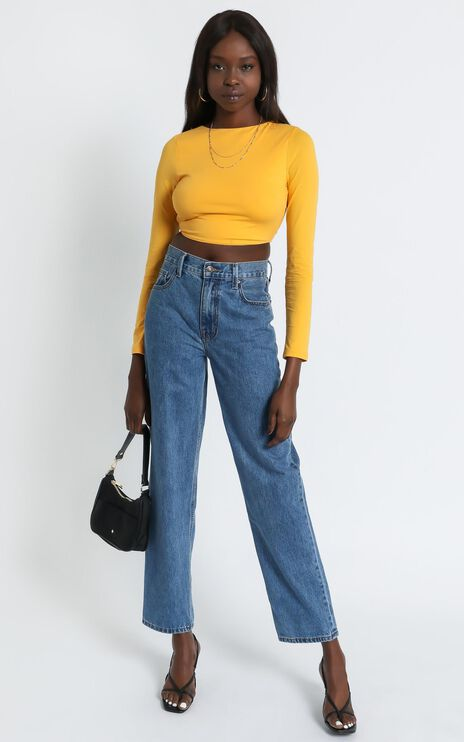 Trina Top in Yellow