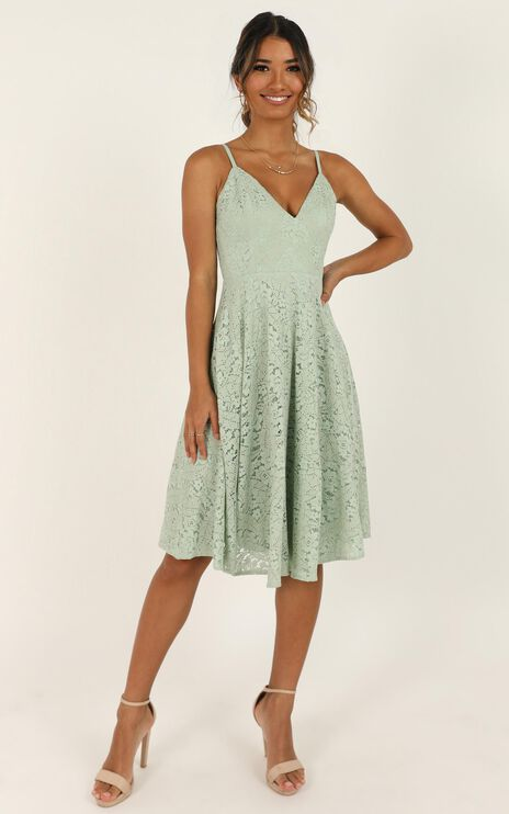 Far Beyond Dress In Sage Lace