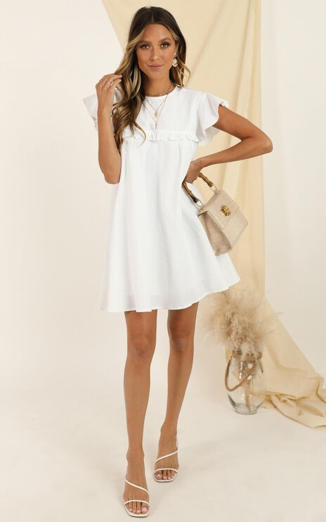 Spin The Story Dress In White