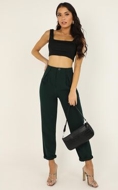 On The Other Side Pants In Emerald