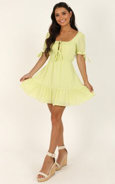 Small Moments Dress In Citrus