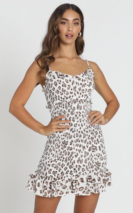 For Sure Dress In Leopard Print