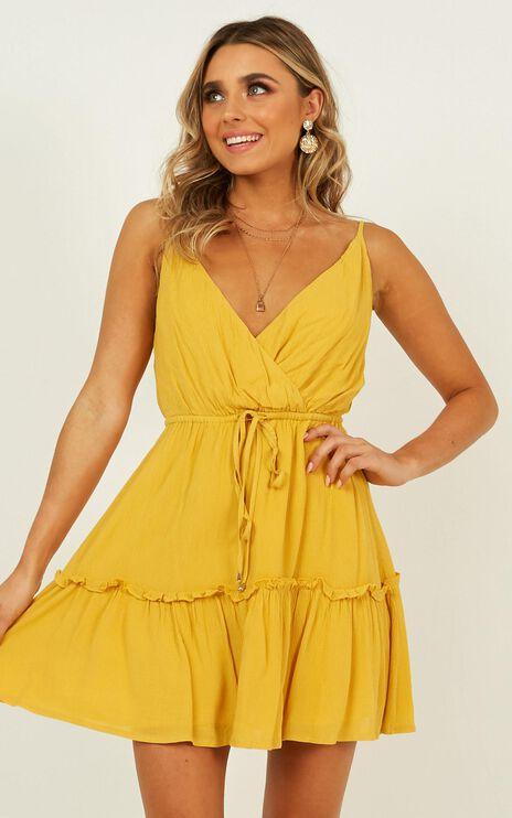 Bronzed Babe Dress In Mustard
