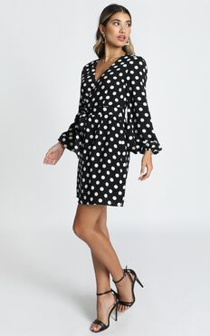 Innovator Dress in Black Spot