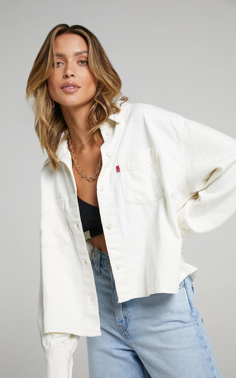 Levis - Zoey Pleat Utility Jacket in Ecru