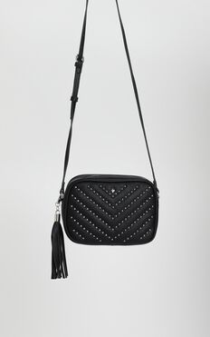 Peta And Jain - Gracie Shoulder Bag In Black Stud