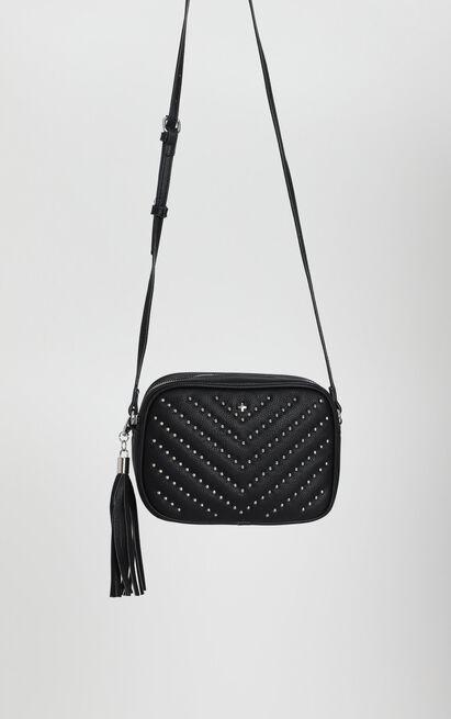 Peta And Jain - Gracie Shoulder Bag In Black Stud, , hi-res image number null