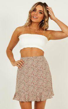 Make No Promises Skirt In Blush Floral