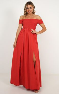 Game Changing Maxi Dress In Rust Linen Look