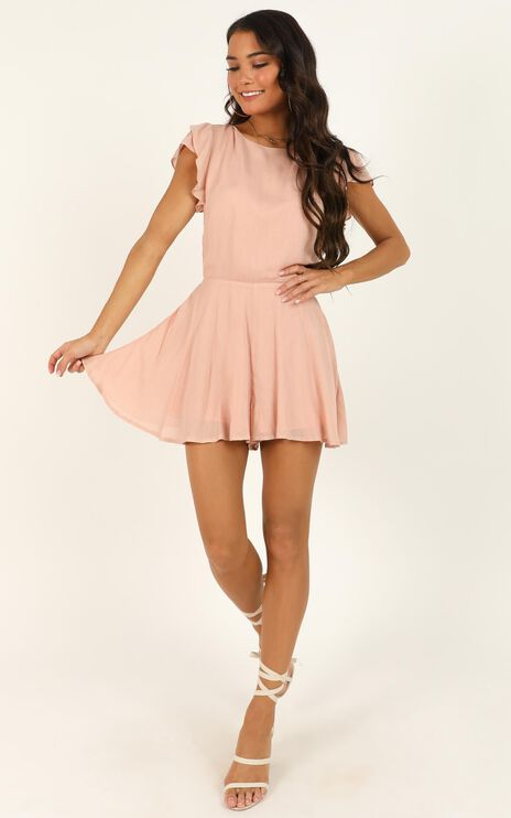 Fortunate Love Playsuit In Blush