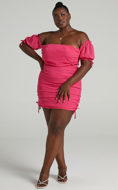 Cant Get You Off My Mind Dress in Berry