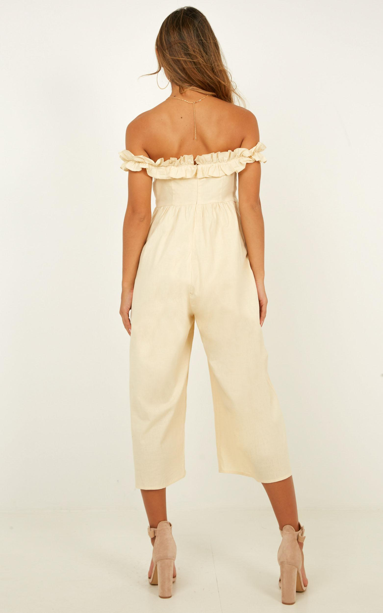 For Your Eyes Jumpsuit In natural linen look - 20 (XXXXL), Beige, hi-res image number null