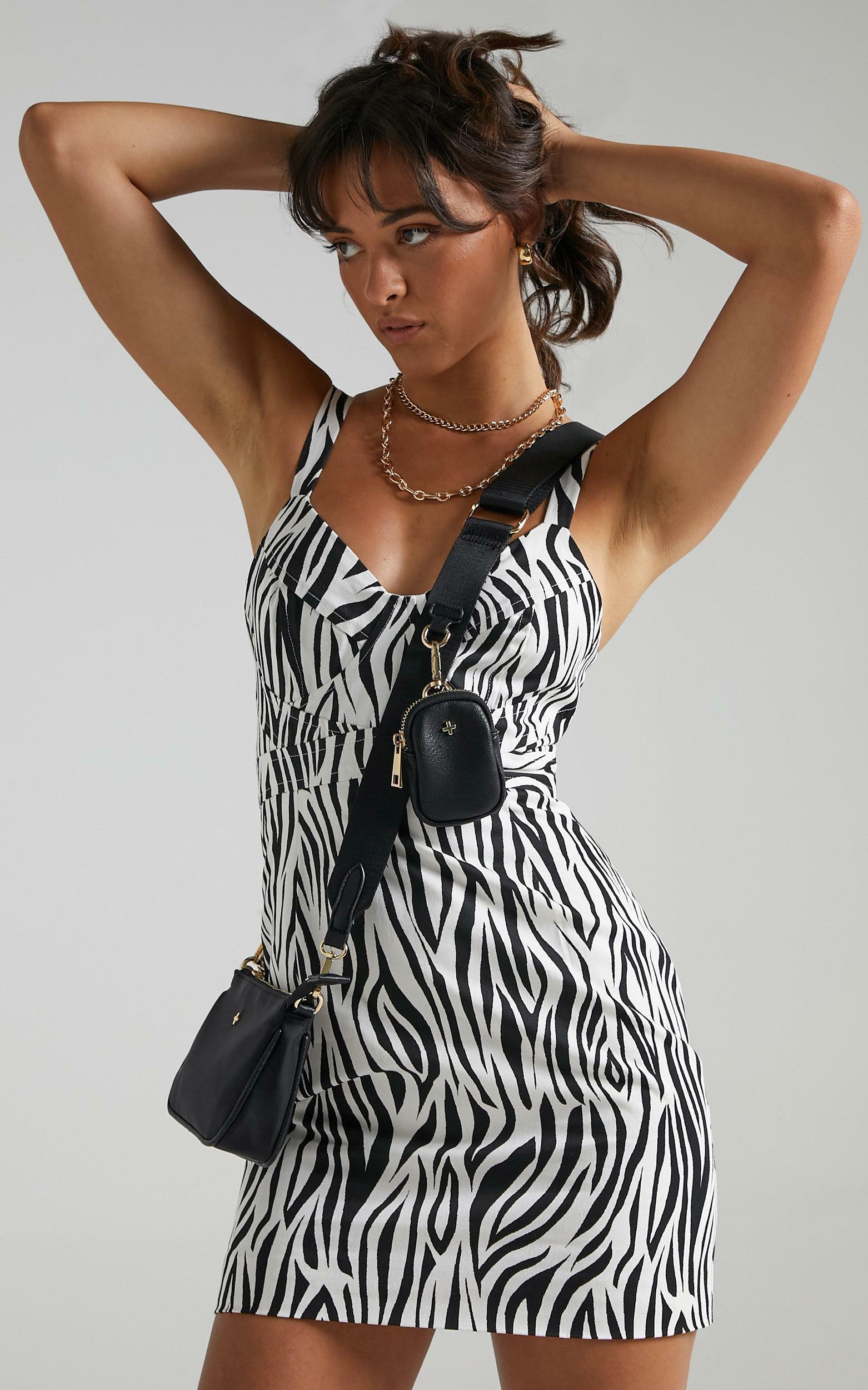 Argel Dress in Monochrome Zebra - 06, MLT1, hi-res image number null