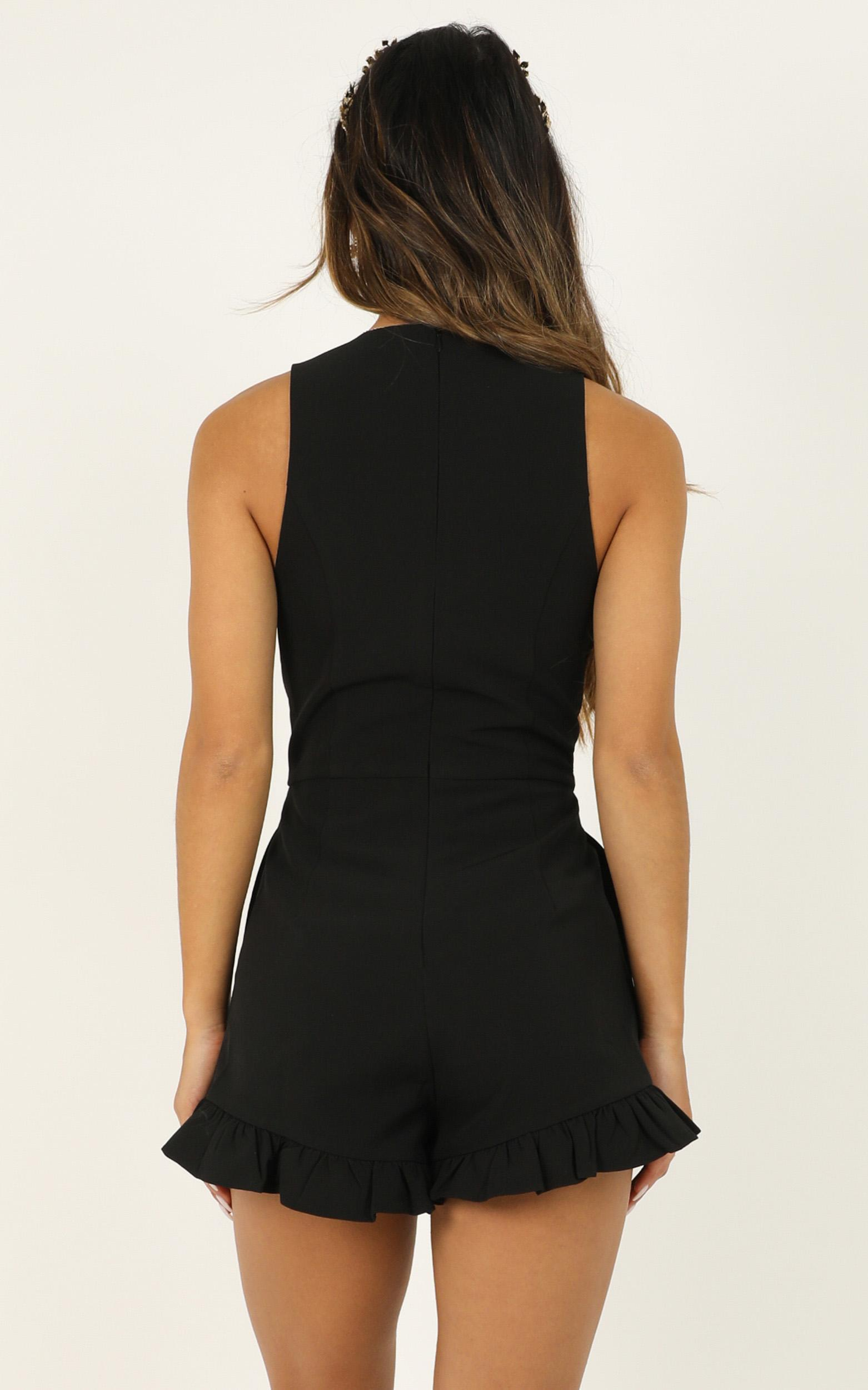 how right it is to care playsuit in black - 20 (XXXXL), Black, hi-res image number null