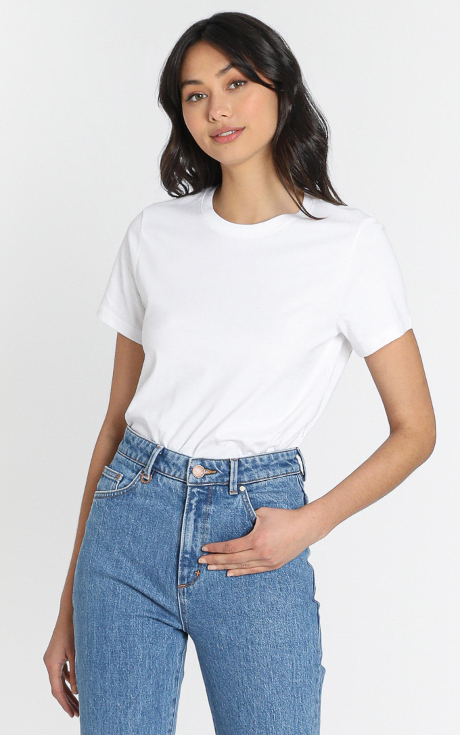 AS Colour - Maple Organic Tee in White - XS, White, hi-res image number null