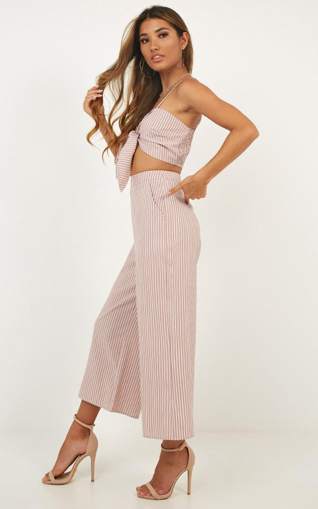 Get In Line Two Piece Set in blush gingham - 18 (XXXL), Blush, hi-res image number null