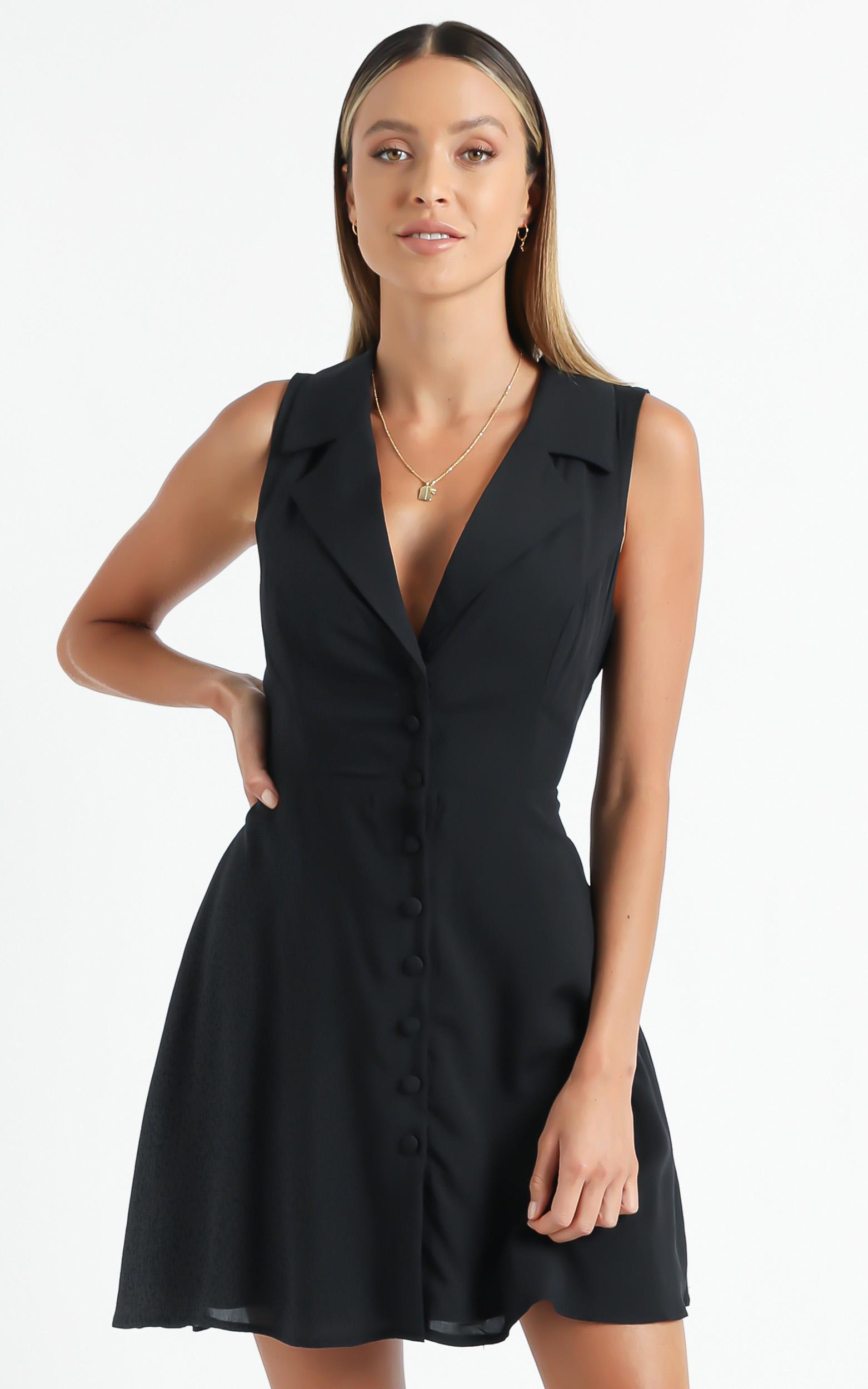Nimos Dress in Black - 6 (XS), Black, hi-res image number null