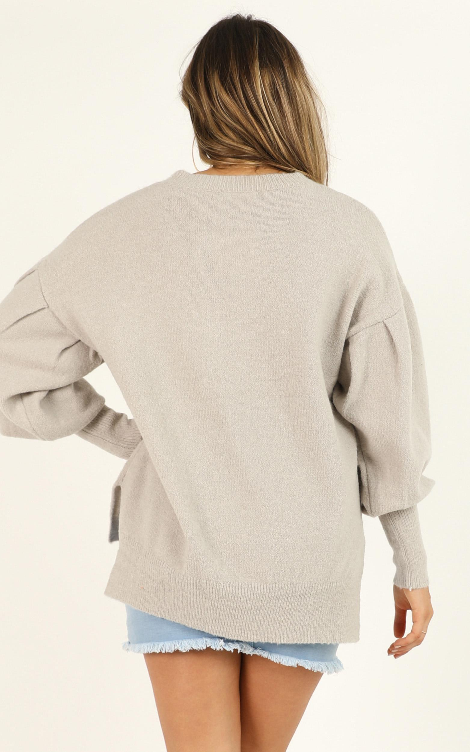 Made For This Moment knit jumper in grey - 12 (L), Grey, hi-res image number null