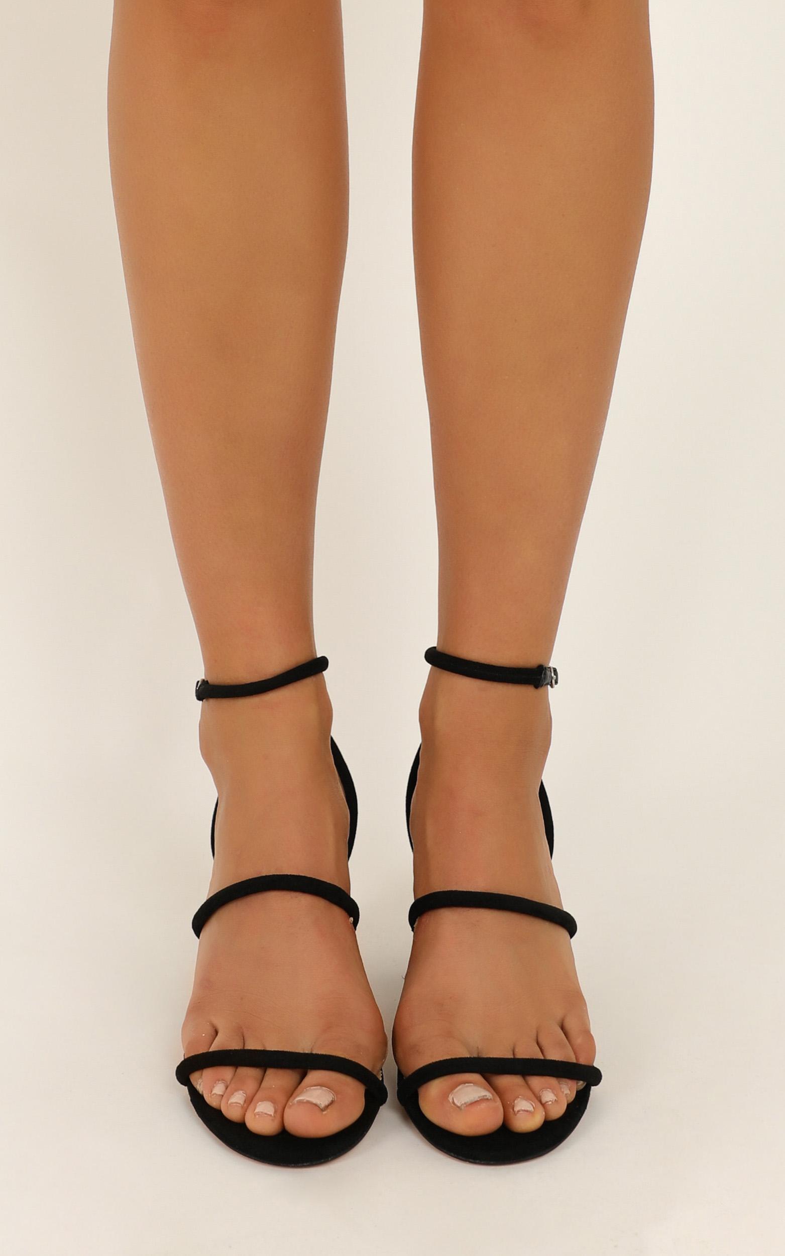Billini - Ember heels in black micro - 10, Black, hi-res image number null