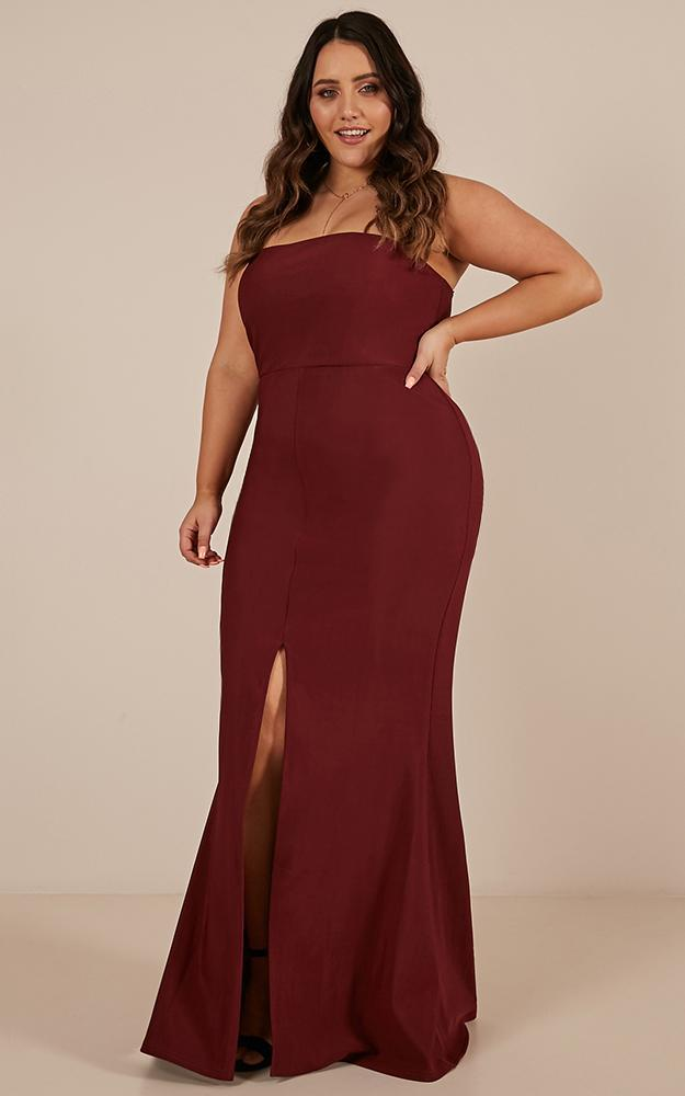 One More Kiss Maxi Dress in wine - 20 (XXXXL), Wine, hi-res image number null
