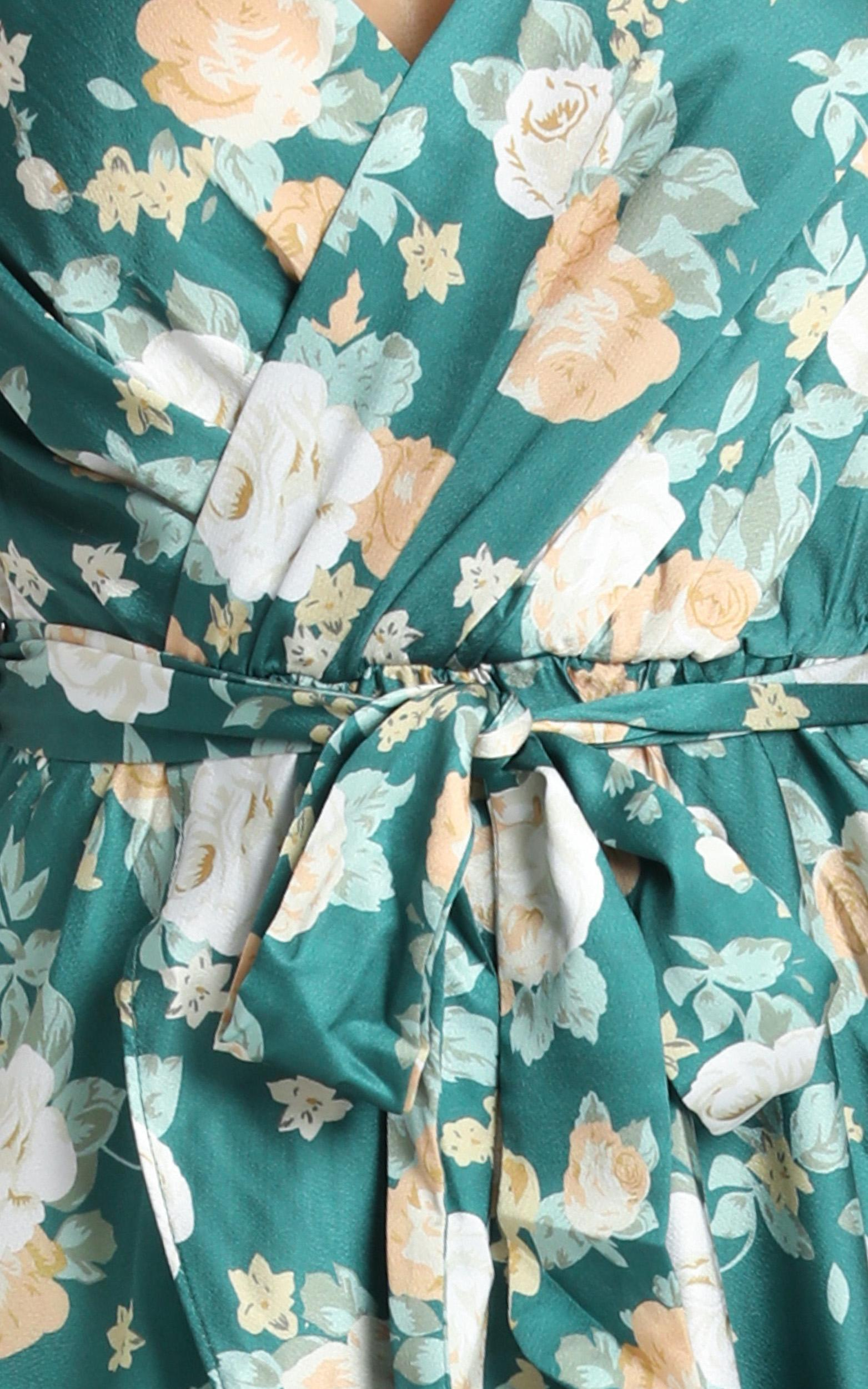 Latest Addiction Dress in green floral - 14 (XL), Green, hi-res image number null