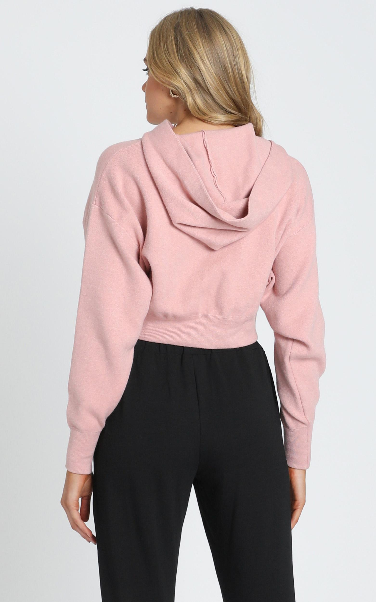 Hattie Boxy Hoodie in Blush - 8 (S), Blush, hi-res image number null